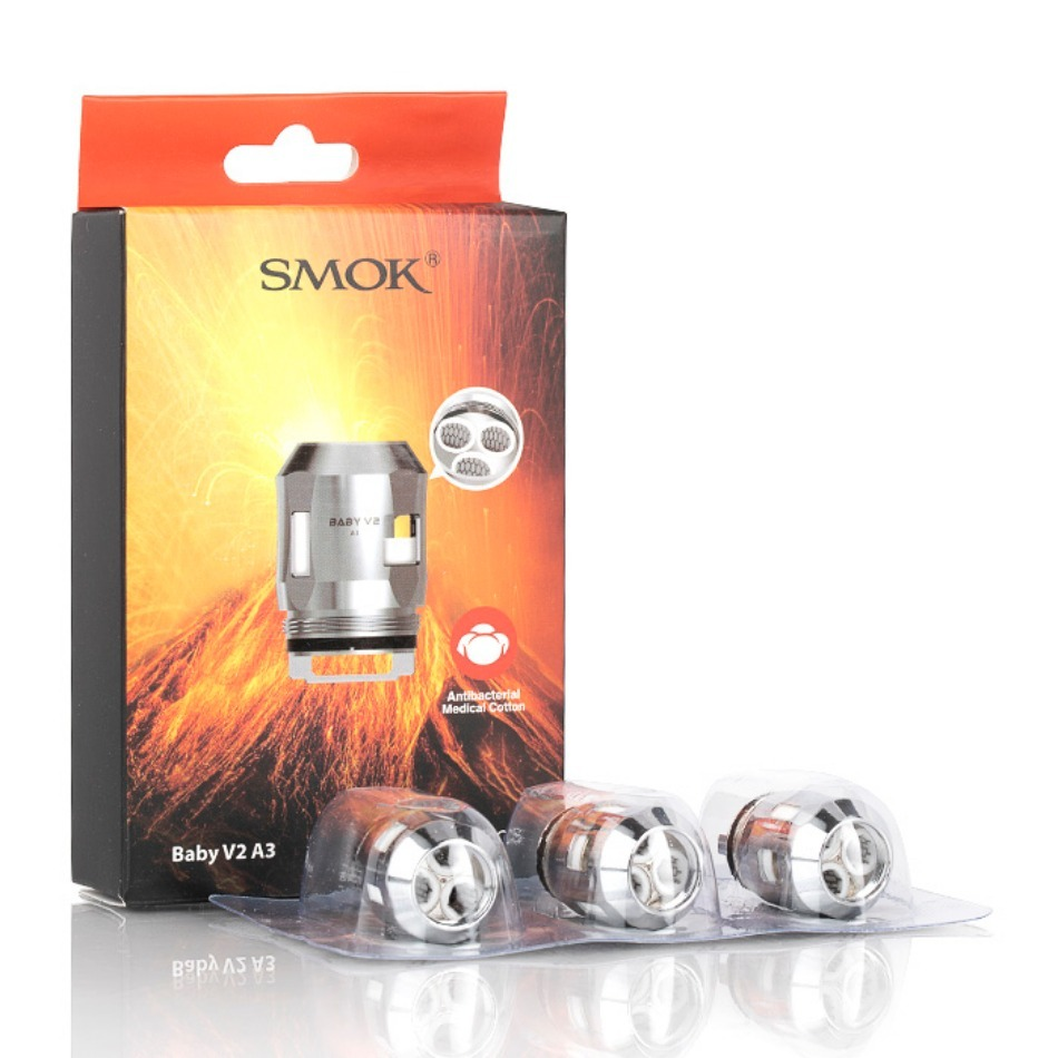 Prime Vapour Hardware - [Smok Baby V2 Coils A3 - Pack of 3]