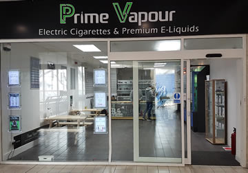 Prime Vapour 5 stores throught Scotland - premium vape hardware and e-liquid retailers
